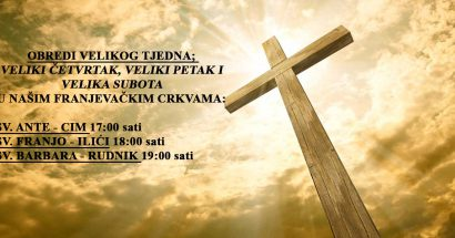Raspored svetih misa i obreda na velike dane