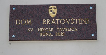 Bratovština sv. Nikole Tavelića na Buni dobila svoj Dom