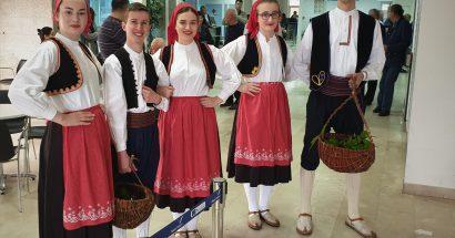 Dočekan zrakoplov Eurowings -a iz Dusseldorfa